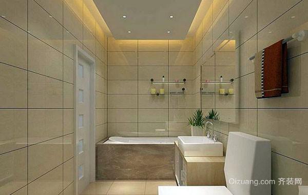 现代简约风格时尚低调室内卫生间装修效果图