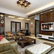 客厅精致中式吊顶设计