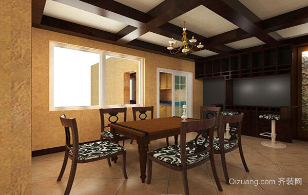 2016欧式大户型餐厅室内设计装修效果图