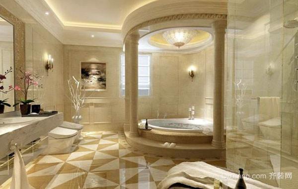 别墅型欧式风格精致卫生间装修效果图大全