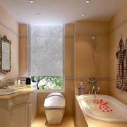 简约美式风格精致卫生间整体设计装修效果图