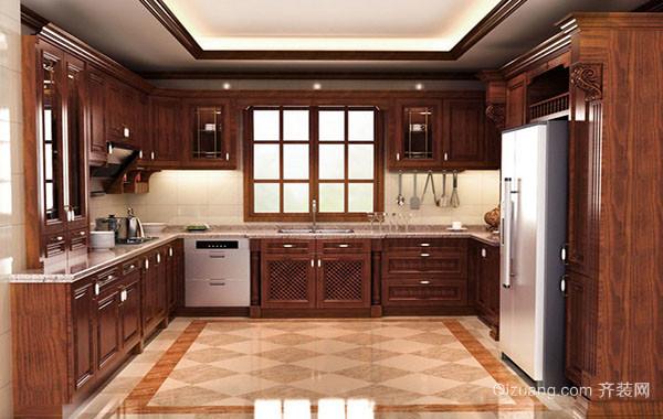 古典欧式风格别墅型精致大厨房装修效果图实例