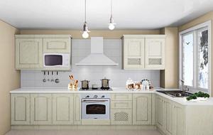 90平米三居室欧式风格小厨房装修效果图实例