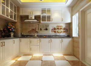 90平米美式田园风格小厨房装修效果图