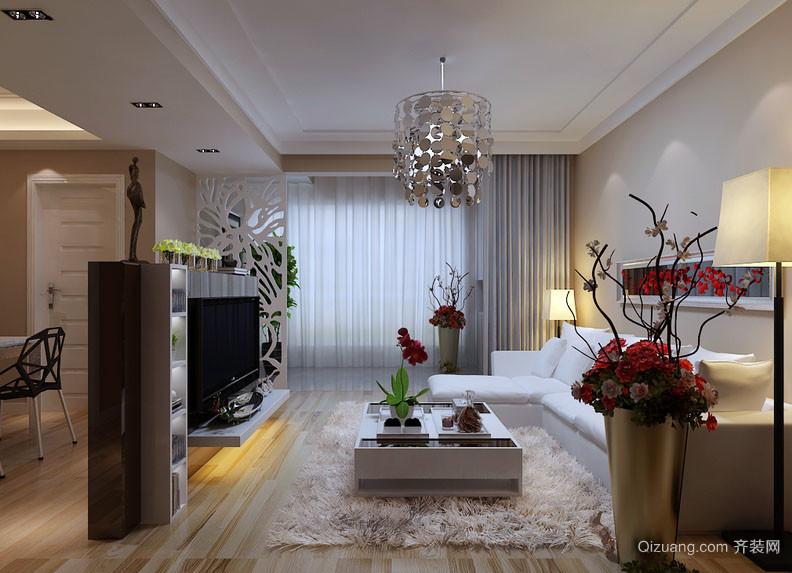 现代简约风格大户型客厅装修效果图