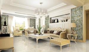 2016年美式田园风格精致客厅装修效果图