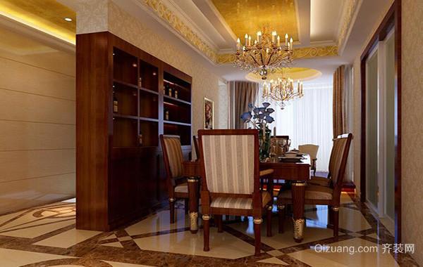 别墅型欧式风格餐厅室内设计装修效果图