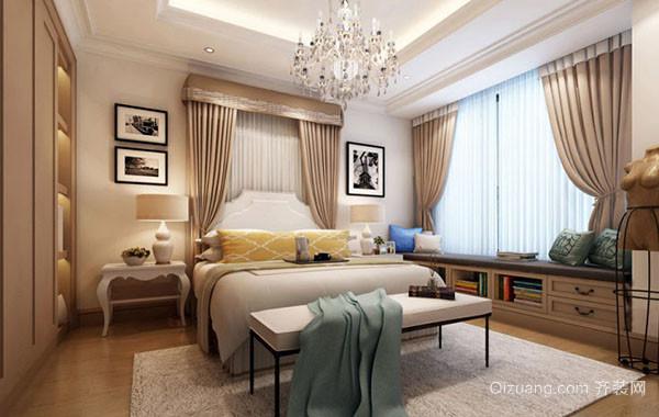 简欧风格别墅型精致时尚卧室吊顶装修效果图赏析