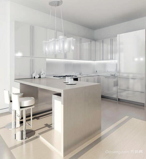 2016别墅型简欧风格厨房装修效果图鉴赏