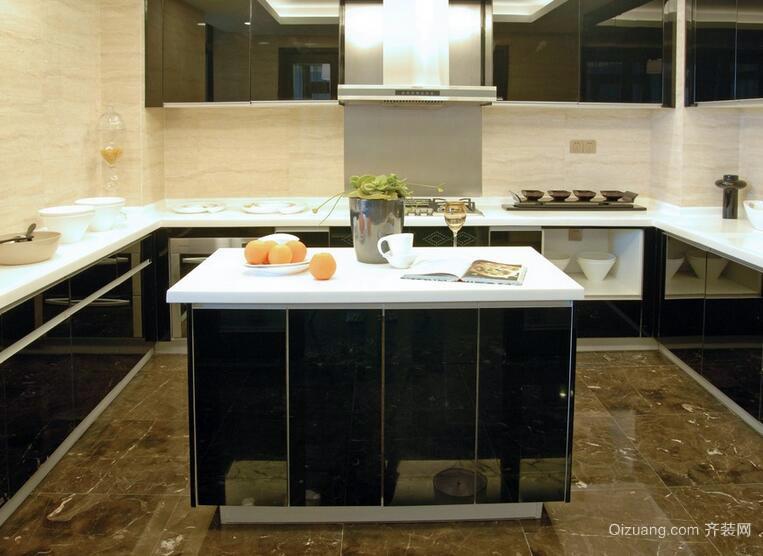 100平米欧式风格厨房橱柜设计装修效果图