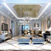 大户型欧式客厅背景墙装修效果图实例