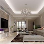 精致的三居室欧式客厅室内装修效果图