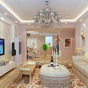 唯美的大户型欧式客厅电视背景墙装修效果图