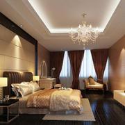 精美的二居室欧式风格卧室吊顶装修效果图