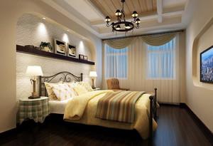 优雅的大户型欧式卧室背景墙装修效果图