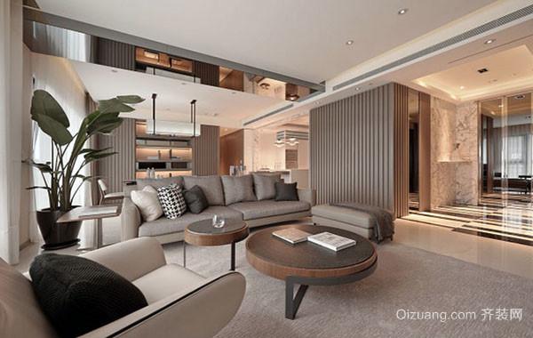 100平米后现代风格简约自然客厅装修效果图