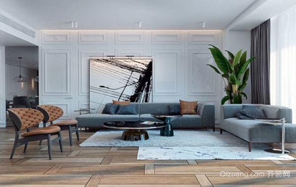 大户型后现代风格精致创意客厅装修效果图