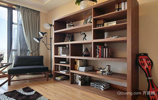 现代风格精致创意十足大书房装修效果图大全