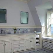 精致的大户型卫生间设计装修效果图实例