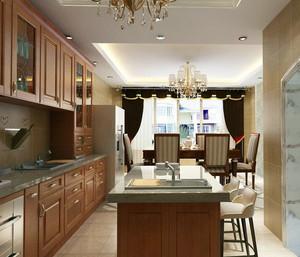 2016精致大户型厨房橱柜装修效果图欣赏