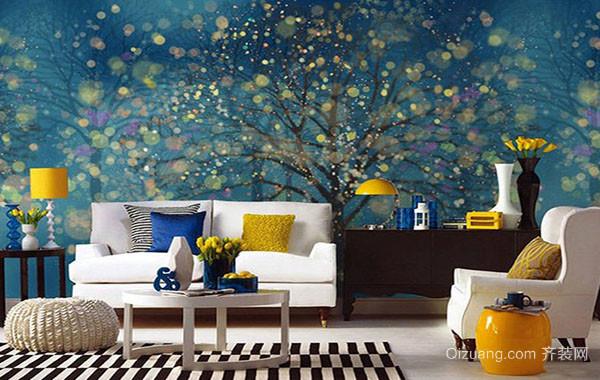 5平米时尚创意客厅照片墙装修效果图赏析