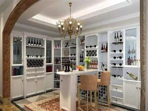 经典欧式风格精致吧台酒柜装修效果图