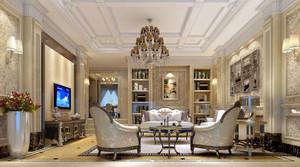简欧风格精致客厅吊顶装修效果图