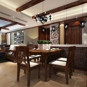 现代中式风格时尚餐厅装修效果图