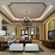 别墅型美式风格客厅装修效果图赏析
