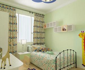 现代田园风格轻快温馨卧室装修效果图