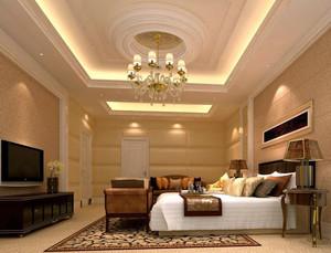 经典唯美欧式大户型卧室吊顶装修效果图