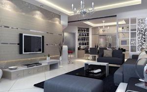 别墅欧式风格客厅背景墙装修效果图鉴赏