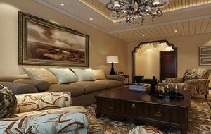 90平米大户型欧式客厅室内设计装修效果图实例