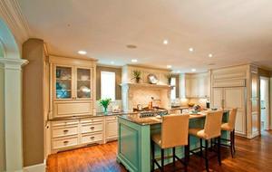 大户型欧式风格厨房室内设计装修效果图鉴赏