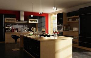 别墅型欧式风格厨房橱柜装修效果图鉴赏