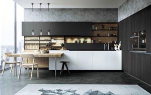 2016年后现代风格精致开放式厨房装修效果图