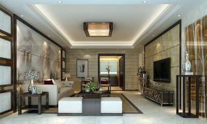 2016年全新款中式风格精致客厅装修效果图