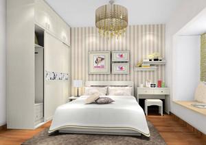90平米都市轻快小清新卧室装修效果图