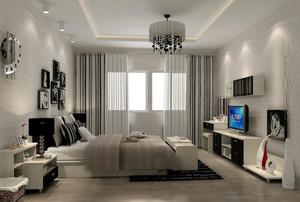 后现代风格80平米精致卧室吊顶装修效果图