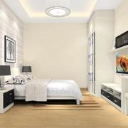 都市现代简约风格小卧室装修效果图