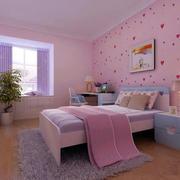 粉色主题儿童房效果图