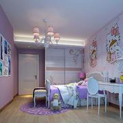 现代简约女生儿童房