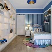 蓝色经典儿童房装修