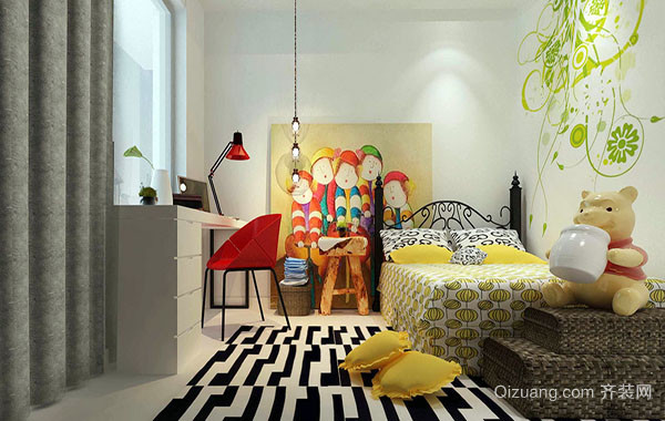 2016年新款大户型现代简约风格儿童房装修效果图