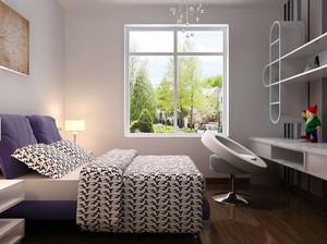 70平米小户型都市轻快小卧室装修效果图