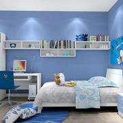 蓝色温馨儿童房