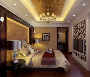 大户型美式风格卧室背景墙装修效果图鉴赏