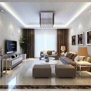 2016别墅型现代客厅室内设计装修效果图