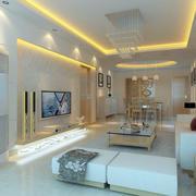 2016别墅型欧式客厅室内设计装修效果图