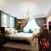 欧式三居室风格大户型卧室装修效果图